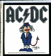 AC/DC Big Sticker 'Angus Young Devil Cartoon'; 2001 Licensed; New Old Stock