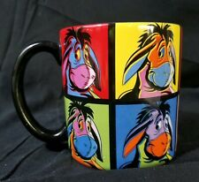 EEYORE Mug Pop Art Andy Warhol Style Disney Store Exclusive BIG Coffee Cup