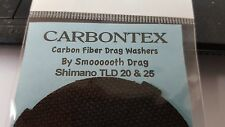 1 Set Carbontex Drag Washer Fits Shimano TLD 20 and TLD 25 Single Speed