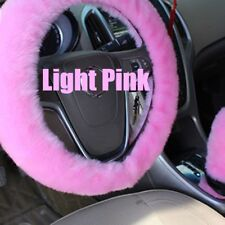 Long Plush Warm Steering Wheel Cover Woolen Handbrake Car Accessory Auto Fur