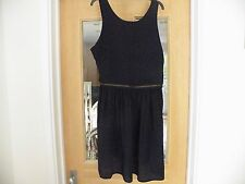 Top Shop With Tags Black Dress Pinafore Style Viscose B32