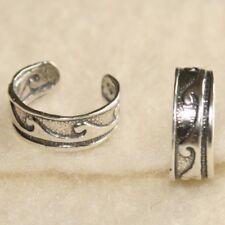 Silver Ear Cuff Wrap Helix Rim Conch non-pierced no piercing earring Ocean Wave
