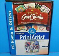 Hallmark Card Studio Express//Print Artist Platinum Version 12.0 PC CD ROM