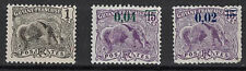 French Guiana:1905-28 Sc#51,94,95 Mh Great Anteater m177