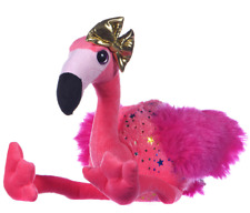 """NEW OFFICIAL 9"""" SPARKLY CAMILLA THE FLAMINGO WITH GOLD BOW SOFT PLUSH TOY"""