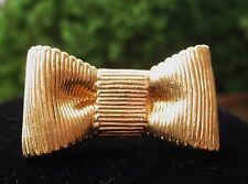 "KATE SPADE NEW YORK COCKTAIL RING SIZE 7 ""ALL WRAPPED UP"" BOW BEAU GOLD"