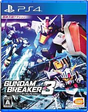 Used PS4 Gundam Breaker 3 Japan Import Official Free Shipping Sony F/S