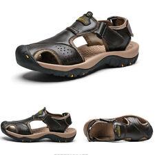 Genuine Leather Mens Beach Sandals Roman Slippers Summer Hiking Trekking Sneaker