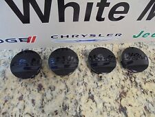 09-17 Dodge Challenger Charger 05-08 Magnum Set of 4 Black Center Caps Mopar New