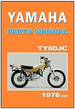 YAMAHA Parts Manual TY80 TY80JC Trials 1976 on Replacement Spares Catalog