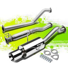 "4""ROLLED TIP MUFFLER PERFORMANCE CATBACK EXHAUST KIT FOR RSX DC5 TYPE-S K20A2"