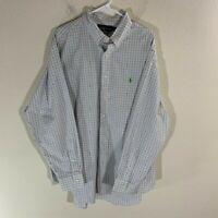 Men's Ralph Lauren Plaid Dress Shirt Logo 18 34/35