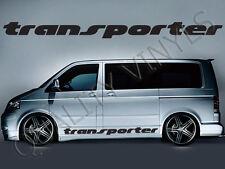 P43 VW Volkswagen Transporter Side Logo T4 T5 T6 Adesivi Decalcomania Grafica