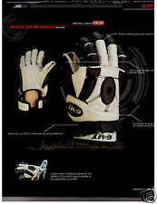 New Gait Debeer indoor box lacrosse lax gloves 12 black