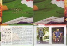 SOUTH AFRICA 2008 NELSON MANDELA OFFICIAL 90th B/DAY BOOKLET 2 SVENIR SHEET MNH