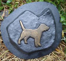 "Dog rock memorial mold reusable casting mould 8"" x 6.5"" x 1"""