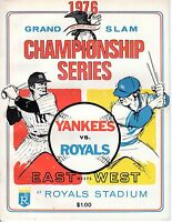 1976 ALCS Baseball Program, New York Yankees @ Kansas City Royals, unscored VG