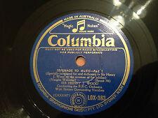 "Sir HENRY J WOOD ""Serenade To Music"" (B.B.C. Orchestra) 78rpm 12"" 1938 LOX383 NM"