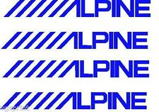 4 x ALPINE LOGO STICKERS GRAPHICS DECALS ANY COLOUR SAXO GOLF VW CLIO #9