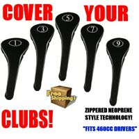 NEW DRIVER GOLF CLUB HEAD COVERS BLACK FULL HEADCOVER FAIRWAY 1 3 5 7 9 WOOD SET