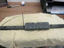 THK Model: HSR30-570L Rail with (1) THK HSR30R1SS  & (1) HSR30LR1SS Liner Bloc<