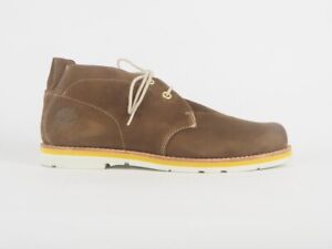 Mens Timberland Earthkeepers Rugged 5348A Brown Leather Lace Up Chukka Boots