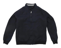 Burton Mens Size M Cotton Blend Blue Bomber Jacket