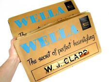 Vintage Wella Hairstyling Lightbox Panel Signs