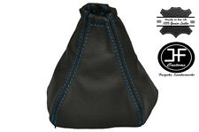 BLUE STITCH FITS NISSAN PRIMERA P12 2002-2008 CUSTOM MADE GEAR GAITER LEATHER
