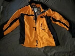 Men's Obermeyer Xl Orange Snd Black Ski Jacket Worn 1 Time