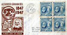 1947 1st Day of Issue - Centenary cover from Alexander Graham Bell anniversary