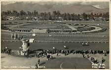 1940s RPPC Postcard Santiago Chile, Club Hipico, Horse Racing Racetrack Posted