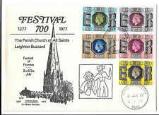 GREAT BRITAIN 2/7/1977 LEIGHTON BUZZARD FESTIVAL OF FLOWERS COVER