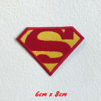 Superman S Badge cartoon movie Iron Sew on Embroidered Patch #012b