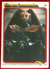 STAR TREK - MOVIE - Card #88 - KLINGON COMMANDER - TOPPS 1979