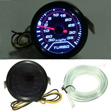 2″52mm Turbo Boost Pressure Pointer Gauge Meter Smoked Dials 30Psi LED