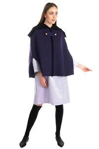 RRP €650 PHILOSOPHY DI LORENZO SERAFINI Wool Cape Size 40 / S Made in Italy