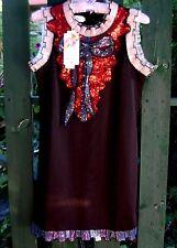 BNWT Mute Lamb (M/10) GLAM SEQUIN BOW BLING BIB DRESS Party Dress-up Fancy Dress