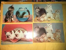 Vintage Lot of 7 Animal Post Cards Postcards Kittens Puppies Bald Eagle