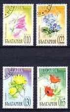 Flore - Fleurs Bulgarie (16) série complète de 4 timbres oblitérés