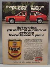 Vintage Magazine Ad Print Design Advertising Texaco Havoline Motor Oil