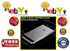 Apple iPhone 5S - Tempered Glass - Screen Protector - Scratch Guard Front & Back