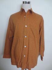 """CHEMISE SIGNUM M manches longues coton carreau """"orange noir"""" TIP TOP/e2"""