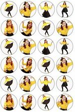 24 WIGGLES EMMA GIRLS Edible Cupcake Toppers CAKE Wafer Rice Paper YELLOW WIGGLE