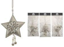 Weihnachtsdeko 3-er Set Stern, Tanne, Herz Baumschmuck; Deko; ca.30 x 12cm NEU