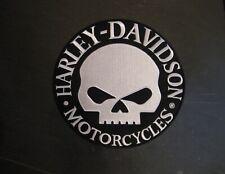 """Harley Davidson Reflective """"Willie G"""" Skull Round Patch - 9"""""""