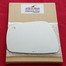 Mirror Glass + Adhesive For Pathfinder, Frontier Driver Side Replacement-Heated