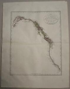 NORTHWESTERN AMERICA 1803 VANCOUVER/ROBERTS/TARDIEU UNUSUAL ANTIQUE MAP
