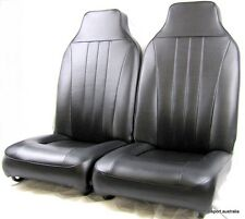 Moke pair of front tombstone seats (sold as a pair) Black
