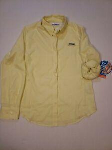 Columbia Womens Sz medium Shirt Outdoor PFG  Long Sleeve Button Up Top NWT